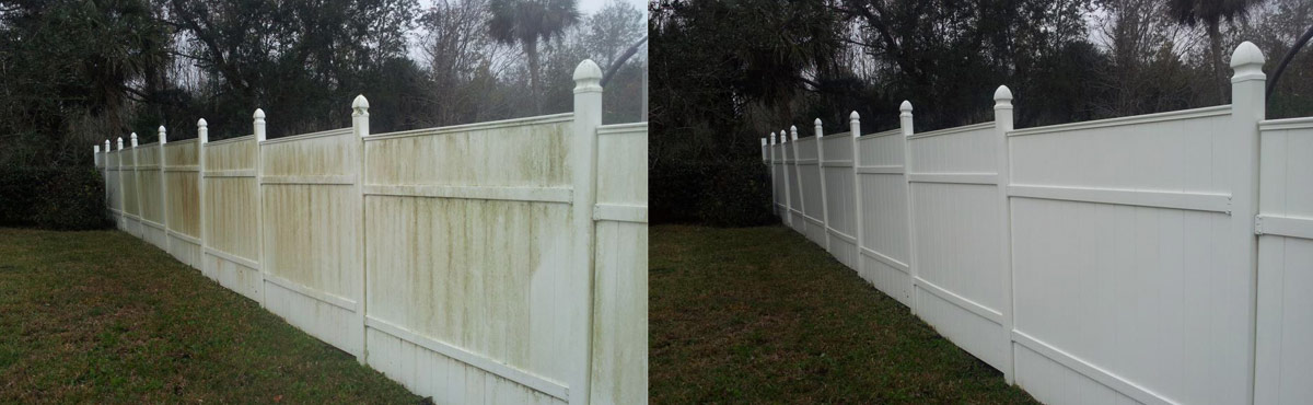 Vinyl Fence Softwashed - The Alternative to Pressure Washing